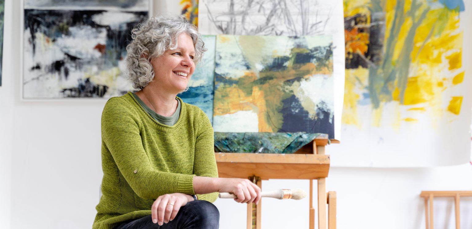 Karin Friedli in her studio